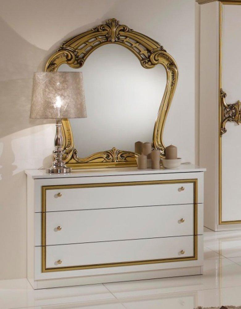 Klassisches Schlafzimmer ELENA weiß gold italienisch Barock