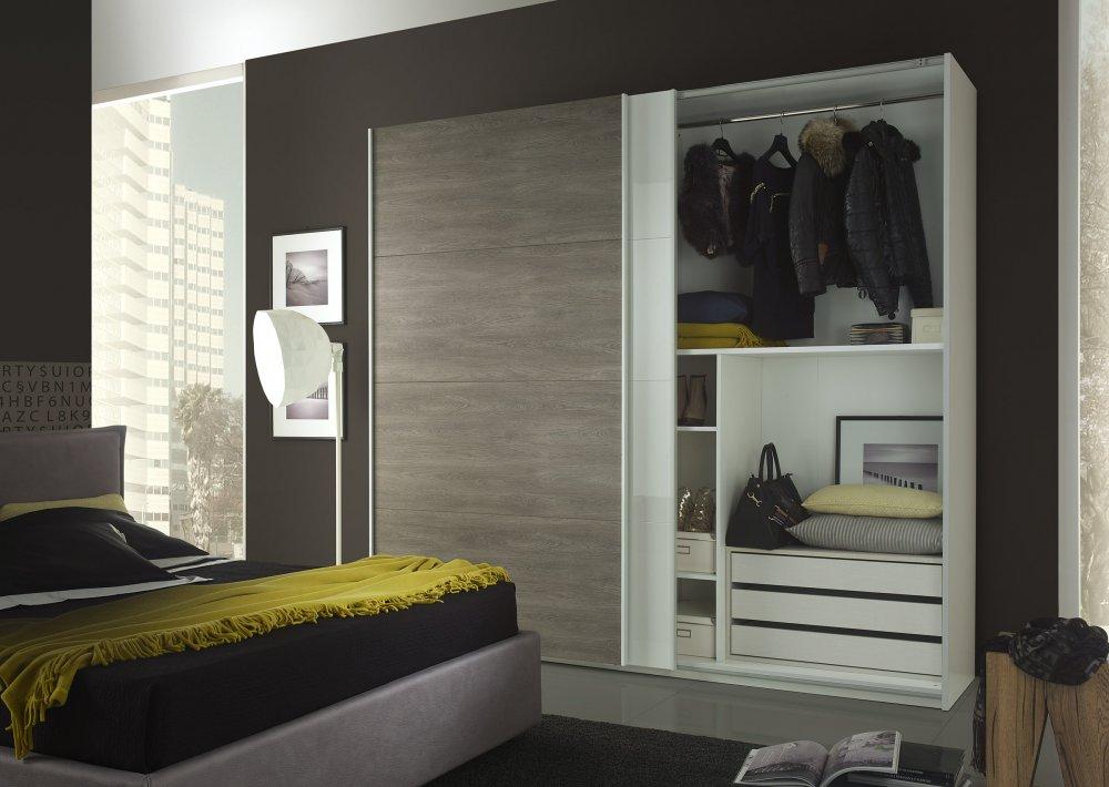 Elegantes Schlafzimmer FIONA in weiß-braun modern