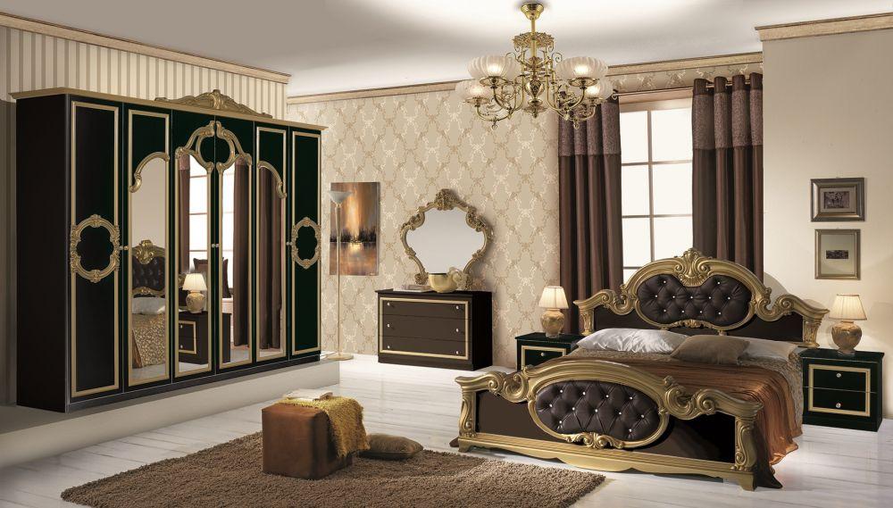 Klassisches Schlafzimmer STELLA weiß-gold italienisch Barock